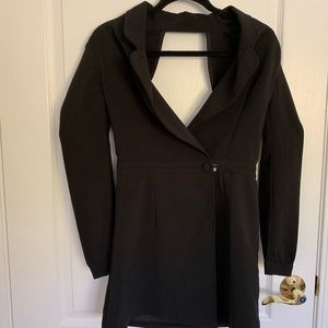 Black tuxedo dress NWT